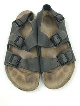 Birkenstock MILANO Gray Suede 2 Strap with Back Strap Sandals Size 44 EU... - $59.35