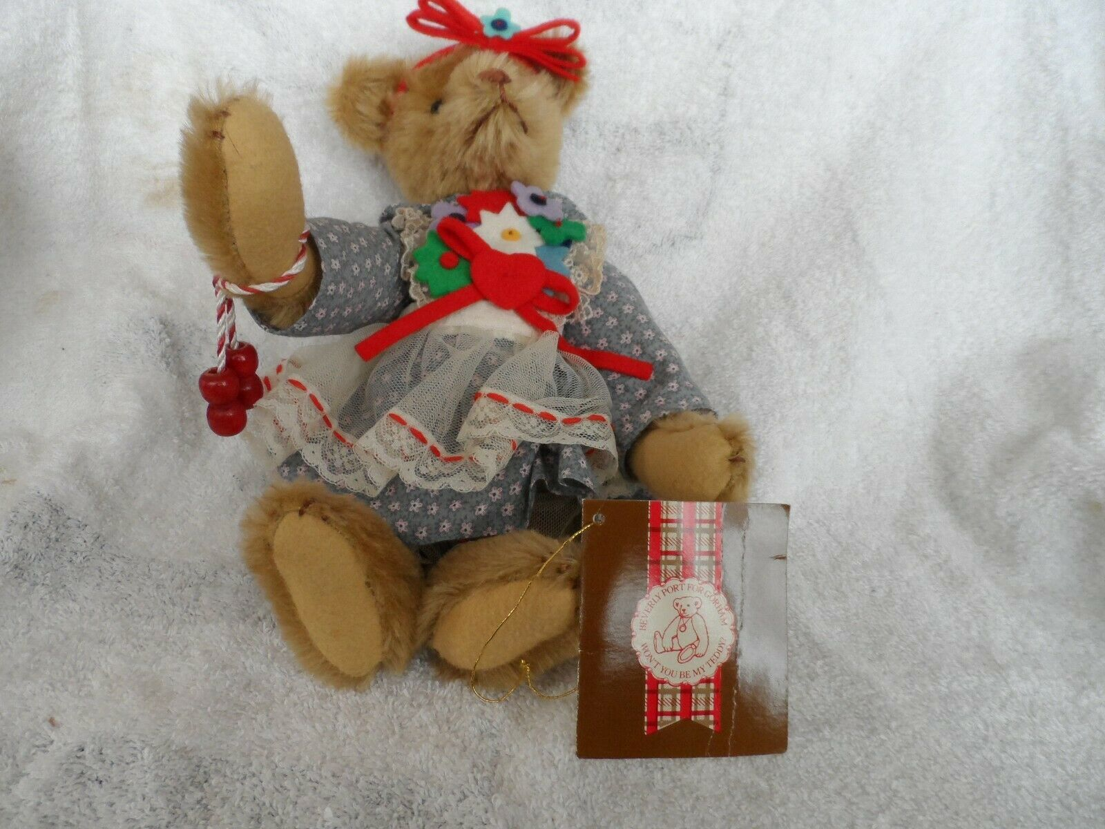 Primary image for Molly Melinda Bearkin a Beverly Port Musical Mohair jointed teddy bear - Gorham
