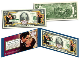 USA $2 Dollar Bill GONE WITH THE WIND *O'Hara & Butler* Legal Tender - $17.21