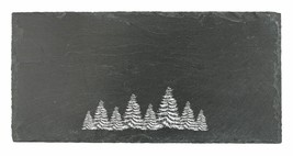 Rustic Cheese Cutting Board, Holiday Evergreen Slate Serving Elegant Che... - $32.99