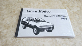 NOS OEM 1994 ISUZU RODEO OWNERS MANUAL USER GUIDE FACTORY L-204/219 - $28.07