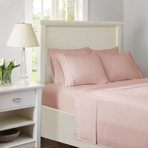 Pink Microfiber Sheet Set w/Ruffles AND Extra Pillowcases - ALL SIZES - $39.89+