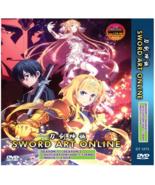 Sword Art Online Complete DVD 1 + 2 + 3 + Movie +2 Ova English Dub Ship ... - $46.55