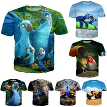 New Fashion Men/Women Anime Movie Rio 3D Print Casual T-Shirt Short Sleeve - $30.50