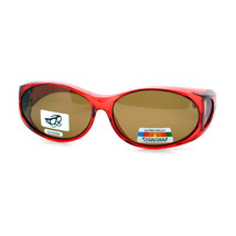 Polarized Fit Over Glasses Sunglasses Womens Fashion Oval OTG Frame - £7.71 GBP+