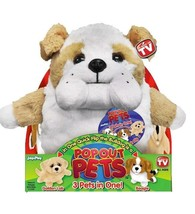 "Pop Out Pets Dogs Reversible Plush Toy Get 3 Stuffed Animals In One 8"" - $6.50"