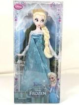 "Disney Store Frozen Elsa Doll 12"" Posable Classic Collection - $24.74"