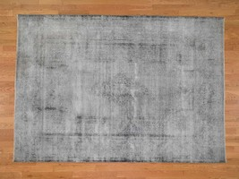 """6'8""""x9'5"""" HandKnotted White Wash Vintage Sheared Low Village Rug G43553 - $1,040.58"""