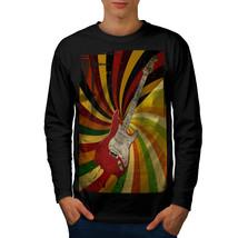 Bass Guitar Song Music Tee Rock Music Men Long Sleeve T-shirt - $14.99