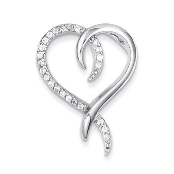Primary image for Lex & Lu Sterling Silver CZ Heart Slide