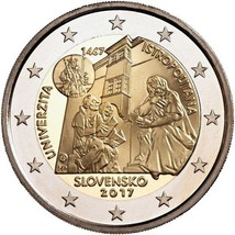 Slovakia 2017 2 euro coin Istropolitana – 550 Years since the Start of T... - $3.99