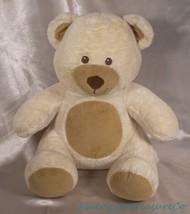 """2015 Build A Bear Plush 14"""" Asthma Friendly Cream Velvety Hugs Teddy w/S... - $28.93"""