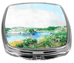 Rikki Knight Childe Hassam Art Compact Mirror The Small Pond Design NEW - $12.00