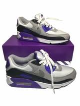 """Nike Women's Air Max 90 """"Hyper Grape"""" Size 8 White Grey Purple Black CD0490-103 - $118.80"""
