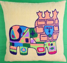 'Regal Lion Abstract c.1960's Pillow' - $175.00