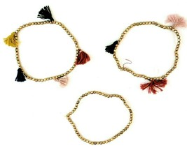 Universal Thread™ Tassel And Bead Fashion Stretch Bracelet Set Gold Color 3pc - $6.92