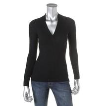 I.N.C. Sweater Women's Super Stretch Slim Fit Ribbed Wrap V-Neck XS Crea... - $20.84