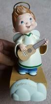 Vintage Hallmark Angel playing guitar Decoration • not  tested Guitar is broken - $12.19
