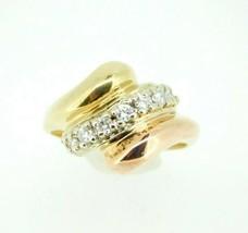 14k Yellow and Rose Gold Genuine Natural Diamond Ring (#J4486) - $600.00