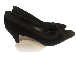 Stuart Weitzman black suede pumps size 7 NWOT Shelf Pull - $54.45