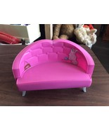 Doll House Furniture Pink Love Seat Barbie Size - $14.34