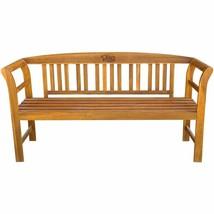 vidaXL Acacia Wooden Rose Garden Bench Outdoor Patio Deck Porch Chair Seat image 2