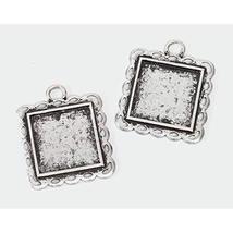 Bulk Buy: Darice DIY Crafts Frame Charms Antique Silver Square 31mm (3-P... - $12.59