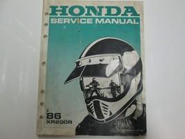 1986 Honda XR200R Service Shop Repair Manual Factory Oem Book Used 86 - $19.79