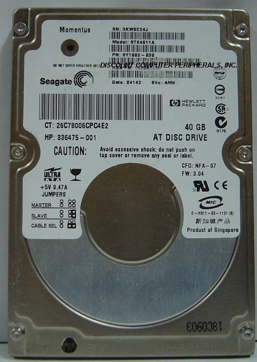 "40GB IDE 2.5"" 9.5MM Hard Drive Seagate ST94011A Free US Shipping Our Drives Work"