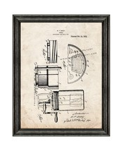 Churn Patent Print Old Look with Black Wood Frame - $24.95+