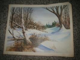 Vintage Sherm Pehrson Deer in Winter 1976 11x14 Print on Paper - $10.88