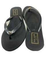 Kate Spade New York Nassau Flip Flops Sandals Size 5 Medium Black Flat - $46.74
