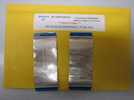 """Insignia 50"""" NS-50D550NA15 T-Con Board T500HVN08.3 Ribbon Cables to LCD Panel - $14.95"""