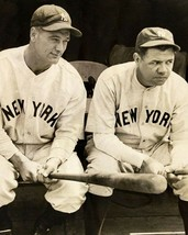 Babe Ruth & Lou Gehrig 8X10 Photo New York Yankees Ny Baseball Picture Dugout - $3.95