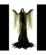 Talking LifeSize ANIMATED TOWERING WITCH Halloween Haunted House Prop De... - $180.47