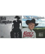 Rick Langston Keepin' It Country & Angels Don't Lie Music CD Lot Autogra... - $14.84