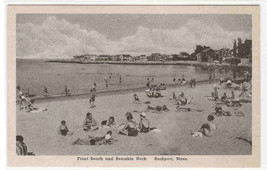 Beach Crowd Front Beach Bearskin Neck Rockport Massachusetts Albertype p... - $6.44