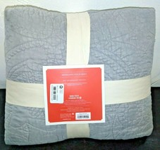 Opalhouse Stitched Medallion Quilt - Gray - Size:Twin - new with tags - STORE image 2