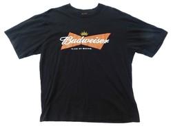 Budweiser Beer T Shirt Mens Size L  Large Black Short Sleeve Summer Casu... - $20.78