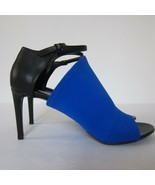 """S-2143999 New Balenciaga Blk/Blue 3 1/4"""" Heels Sandals Shoes US 10 Marke... - $247.34"""