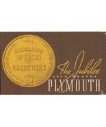 1938 Plymouth Jubilee ORIGINAL Vintage Advertising Brochure - $27.86