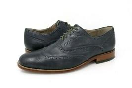 Clarks England Wingtip Mens 9.5 M Brogue Oxford Shoes Black Lace Up Dress - $29.99