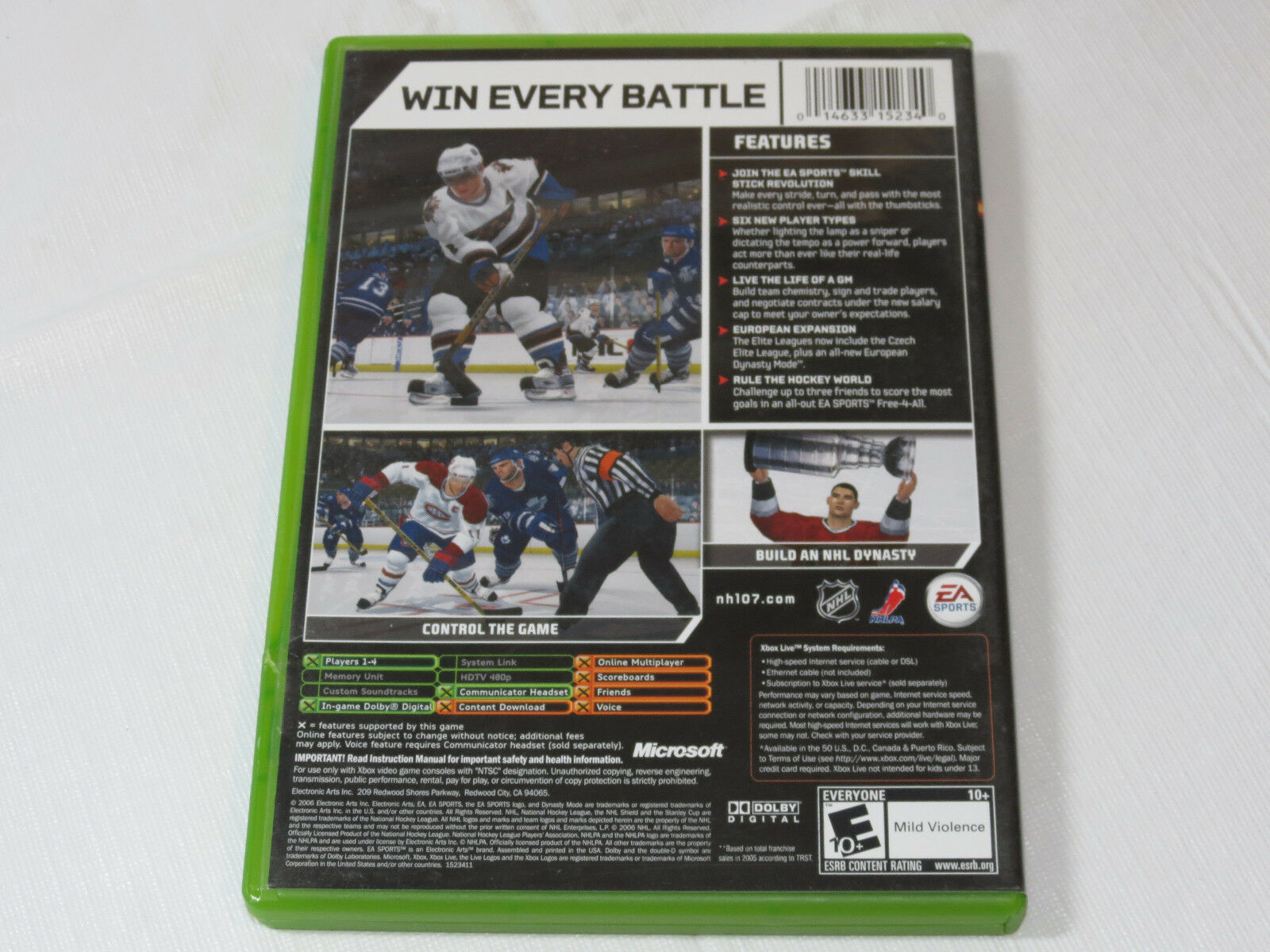NHL 07 Microsoft Xbox, 2006 Xbxo Live On-Line Abilitato Videogioco E-Everyone
