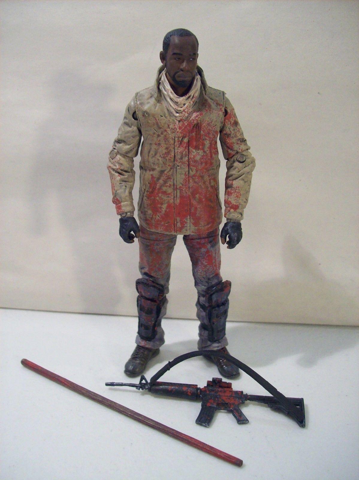MCFARLANE AMC'S THE WALKING DEAD BLOODY MORGAN JONES ACTION FIGURE RIFLE STAFF