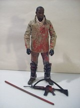 MCFARLANE AMC'S THE WALKING DEAD BLOODY MORGAN JONES ACTION FIGURE RIFLE... - $14.65