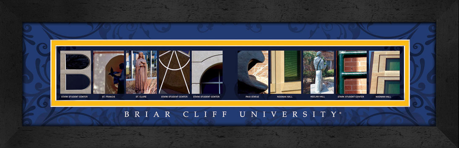 Primary image for Briar Cliff University Officially Licensed Framed Campus Letter Art