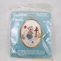 Vintage Cathy Daisy Boy Mouse Stamped Crewel Embroidery Kit #258 with Fr... - $14.46