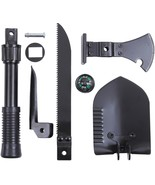 Black 5-In-1 Multi Purpose Camping Tool Emergency - Shovel Saw Axe Pick ... - $24.99