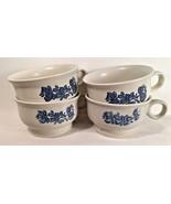 Lot of 4 Mugs Pfaltzgraff Yorktowne Stoneware Coffee, Tea, Soup - $16.82