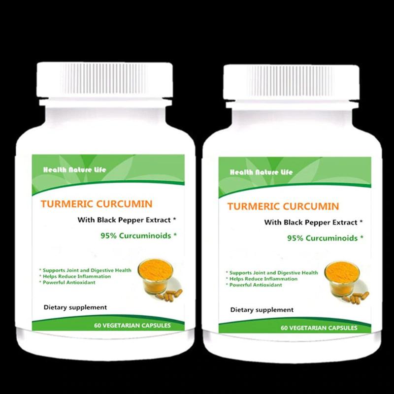 2x Turmeric Curcumin Black Pepper Bioperine 95 Tumeric 1300mg with Bioperine 60  - Herbs & Botanicals